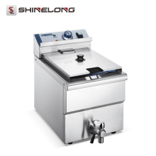 Precio 2017 de la máquina de la freidora de las patatas fritas comerciales del acero inoxidable de la venta caliente
