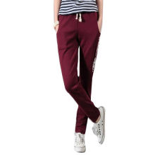 Women's fashion cotton fit pencil pants, customized designs, colors and logos are accepted