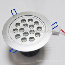 hot sale AC85-265V 15W recessed led ceiling light (can be dimmable) with CE&RoHS