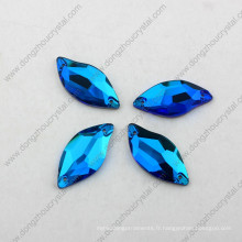 Chine gros dos plat coudre sur des perles de cristal à facettes pour vêtement