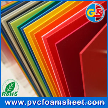 Yellow / Red / Blue PVC Foam Sheet