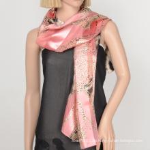 100 Polyester Schal Satin Gaze Dame Schal mit Custome Design