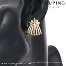 92451 Xuping новый стиль кристалл 18 к ювелирные изделия серьги для девочек