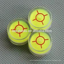 20 x 14mm mini circular bolha nível frascos