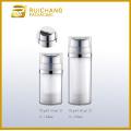 Double tube cosmetic cream pump bottle