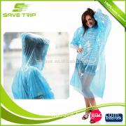 100% Waterproof Breathable PE Material Poncho Type Disposable Rain Coat Raincoats