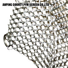 Skillet Chainmail Scrubber In 316 Edelstahl 304 Guss Cast Chainmail Scrubber