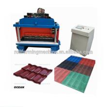 PPGI Glazed Roofing Tile Roll Forming Machine