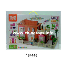 Promotional Gift Wooden Children Doll House Furniture Cottage Toy (164445)