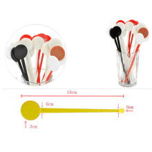 Disposable creative stick for Cocktail Swizzle Milk tea Juice Coffee with Round shape Stirrers Cooking stick