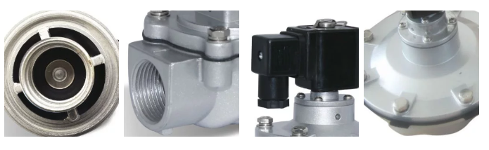 Details of G3/4'' Right Angle Port Aluminum Body SCG353A043 Pulse diaphragm valve