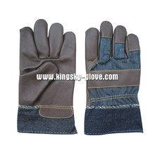 Dark Color Full Palm Furniture Leather Work Glove-4028