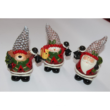 Artisanat en porcelaine de 20 cm pour un bureau de Noël unique
