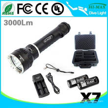 Primary diving flashlight 26650 3000lumen led U2