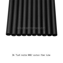 21.5x19.5X1000mm 100% fibra de carbono 3k tubos de sarga mate