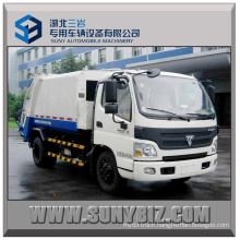 Euro 5 Foton Aumark 4X2 Compactor Garbage Truck