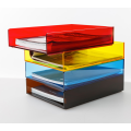 Acrylic Stacking Letter Tray Colored
