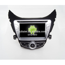 Quad core!car dvd with mirror link/DVR/TPMS/OBD2 for 8 inch touch screen quad core 4.4 Android system HYUNDAI ELANTRA