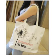 2017 nova sacola de lona de design, saco de algodão promocional, saco de lona de algodão