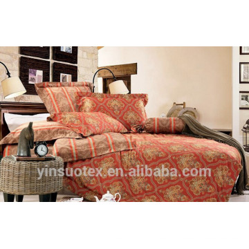 Ropa de cama conjunto de algodón 3d, juego de cama de satén, conjunto de 7 piezas de cama