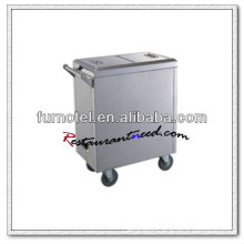 S096 Stainless Steel Kitchen Trolley Carrinho de toalha elétrico