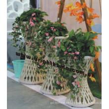 Pot de plantation de fleurs de jardin en osier Bp-F09