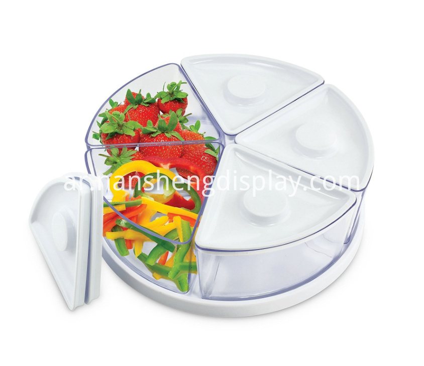 Clear White Food Storage Containers with Lids