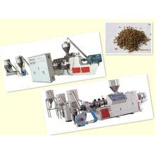 PP / PE + machine de granulation de poudre de bois wpc