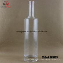 750ml Super Flint Glasflasche mit flacher Schulter & dicker Sockel