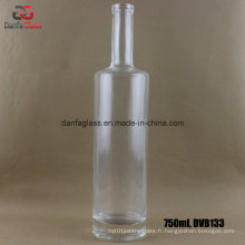 Bouteille en verre Super Flint de 750 ml avec épaule plate et base épaisse