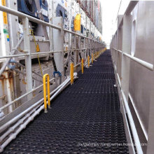 1m*1m*16mm Anti Slip Interlocking Drainage Rubber Deck/Boat/Outdoor Floor Mats with Holes