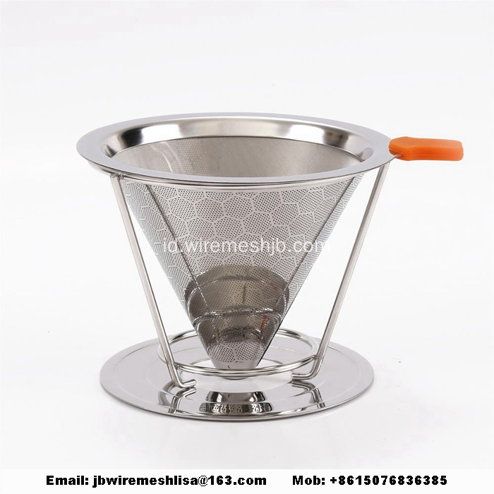 Reusable Stainless Steel Tuang Atas Filter Kopi