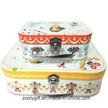 Full Color Printing Paper Suitcase with Handle for Toys