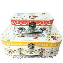 Бумажный чемодан для полноцветной печати с ручкой для игрушек