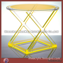 Acrylic furniture round yellow table/desk/chair