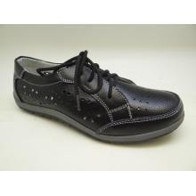 Lates Frauen Freizeit Leder Schuhe Casual Leder Schuhe (SF001)