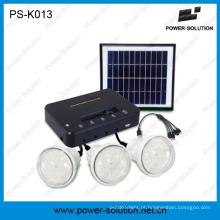 Kit portátil de estudo meteorológico com três LEDs para áreas de grade desligada