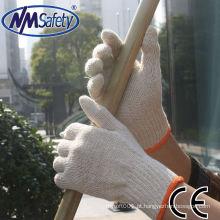 Luvas de algodão de segurança NMSAFETY que faz a máquina