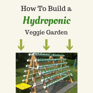 Homemade Vertical A-Frame hydroponic Gardening system