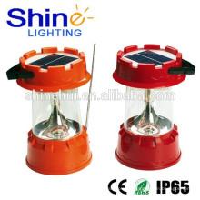 Lanterna solar do diodo emissor de luz com o carregador da CA do equipamento de acampamento Fornecedor de China com garantia do comércio