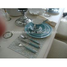 Korean homeware vajilla tenedor de cerámica y cuchara conjunto