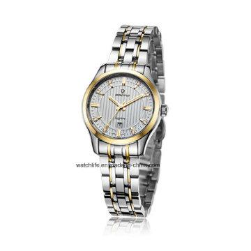 2016 Edelstahl Saphir Spiegel Uhren Paar Armbanduhr