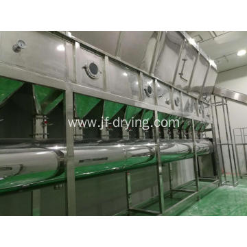Horizontal continues Fluid Bed Dryer machine