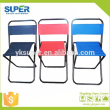 Tecido Oxford Oxford 600D pequenas cadeiras de acampamento de viagem com cadeiras dobráveis com encosto