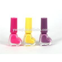 Yiwu fábrica oferta venta caliente 2015 amor corazón orgánico esmalte de uñas para la señora