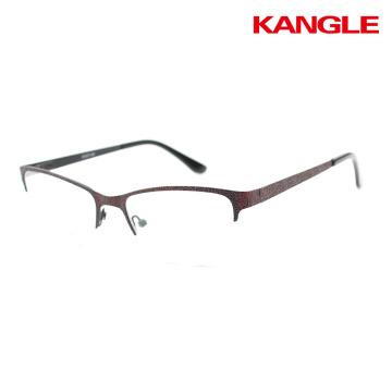 Comfortable stainless steel eyewear frames half rim glasses for man wholesale