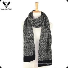 Men′s Acrylic Jacquard Machine Knit Scarf