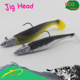Sea fishing big size soft bait--speed bass fishing lure jig head hook minnow bait
