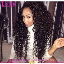 Qingdao venda quente virgem rendas frente perucas 100% brasileiro virgem do cabelo humano frente perucas para mulher negra