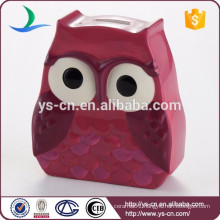 Owl ceramic money bank,coin box,saving jar